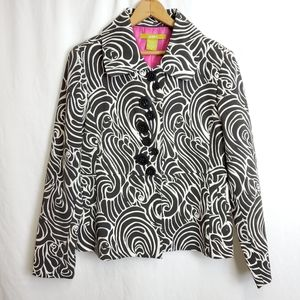 Acorn black and white graphic blazer